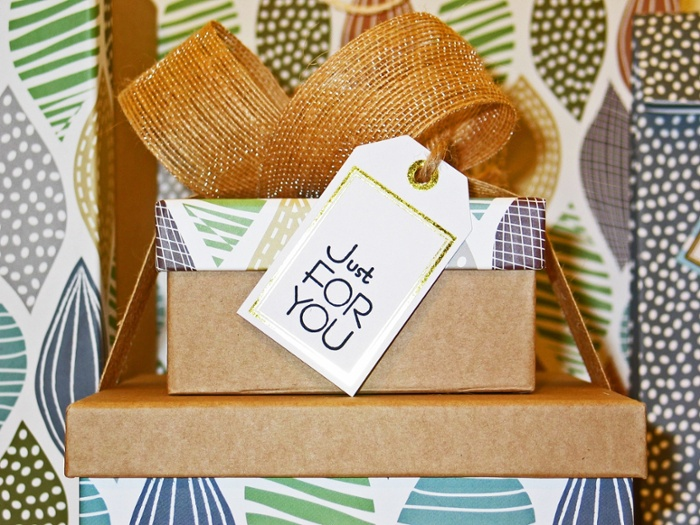 Just for you gift tag on box