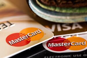 Mastercard and Visa credit or debit cards outside of wallet