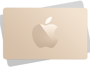 Two Apple Cards stacked on top of each other