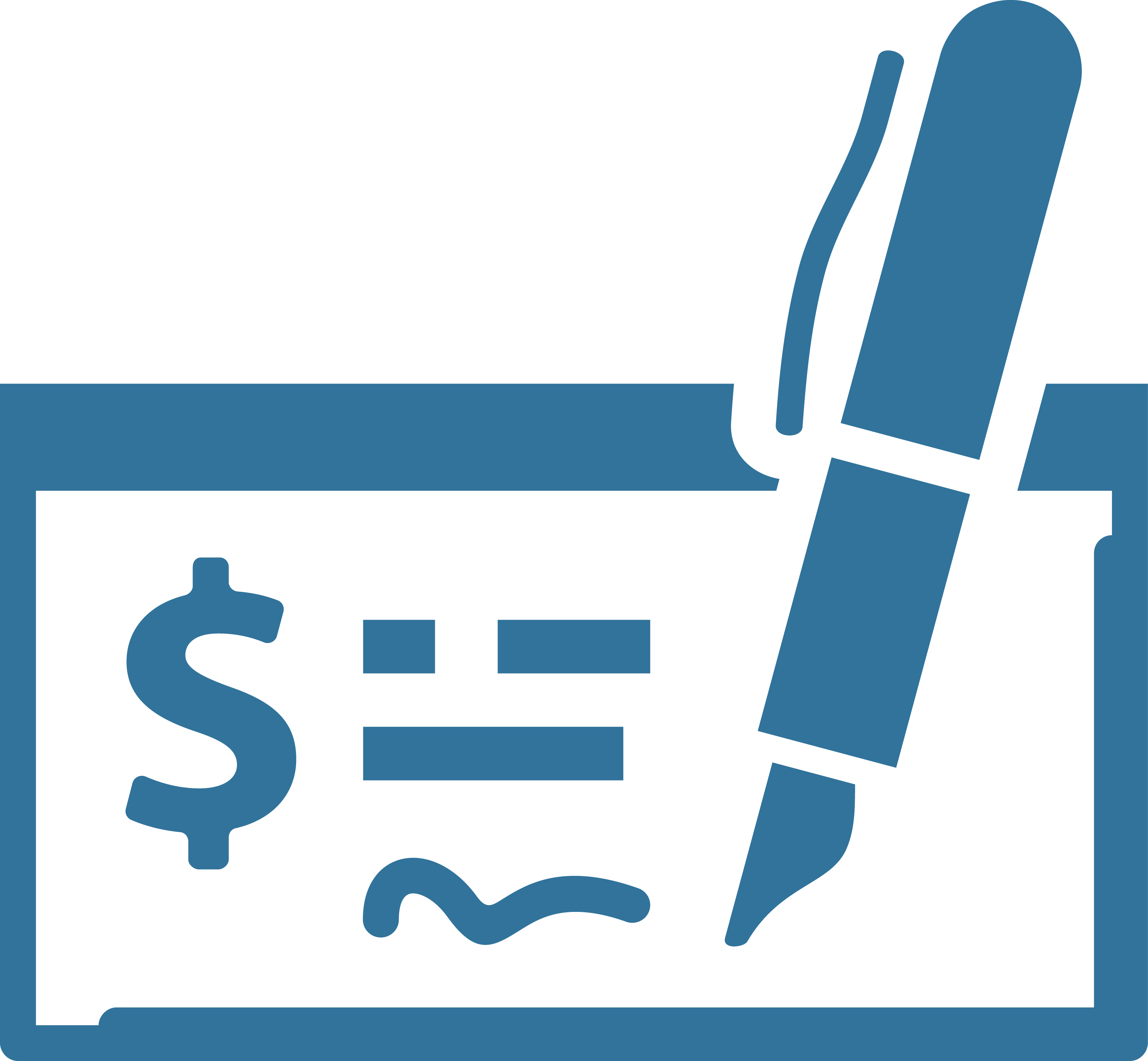 Pen writing out paper check icon
