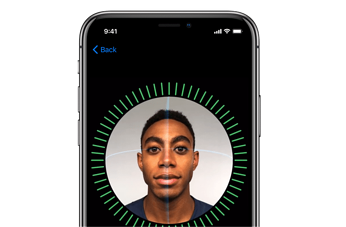 Facial recognition for iPhone