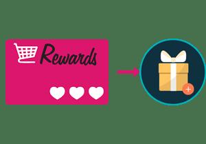 Loyalty program rewards card and gift box