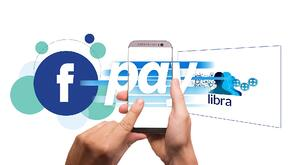 Person using a mobile phone to pay with Facebook Libra