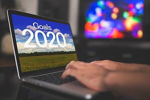 2020 goals on laptop